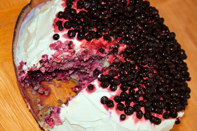 Blå tårta v.