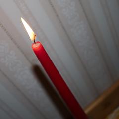 Ljuset var julrött.